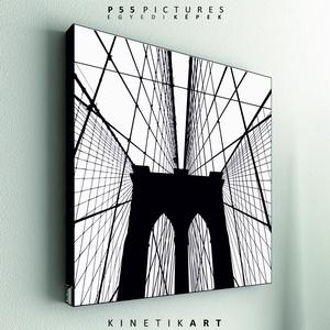 kép: Brooklyn Bridge No.2, Dekoráció, Otthon & lakás, Kép, Képzőművészet, Grafika, Fotó, grafika, rajz, illusztráció, Mindenmás, P55 - archBRB2\nbrooklyn bridge No.2\n\n\nP55 pictures:\nAkril felületű faforgácslapra, vinyl technikával..., Meska