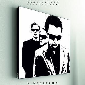 kép: Depeche Mode: Band - No.1, Dekoráció, Otthon & lakás, Kép, Képzőművészet, Grafika, Fotó, grafika, rajz, illusztráció, Mindenmás, P55 - demoBND1\n \ndepeche mode: Band No.1\n\n\nP55 pictures:\nAkril felületű faforgácslapra, vinyl techni..., Meska