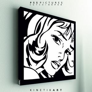 kép: pop-art: Women, Otthon & lakás, Dekoráció, Kép, Képzőművészet, Grafika, P55 - partTRIB  pop-art   P55 pictures: Akril felületű faforgácslapra, vinyl technikával készített t..., Meska