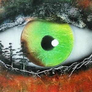 Erdei rém, Képzőművészet, Otthon & lakás, Festmény, Akril, Festészet, A3-as méretű akril spray technikával fotópapírra készített festmény, Meska