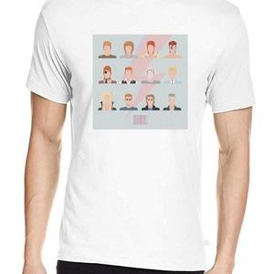 David Bowie póló, Pixel art póló, Egyedi póló, Férfiaknak, Urban pólók, Táska, Divat & Szépség, Ruha, divat, Férfi ruha, Női ruha, Póló, felsőrész, Fotó, grafika, rajz, illusztráció, A póló David Bowie megjelenéseinek változását követi 50 éven át, 12 képben.\nA letisztult, általam te..., Meska