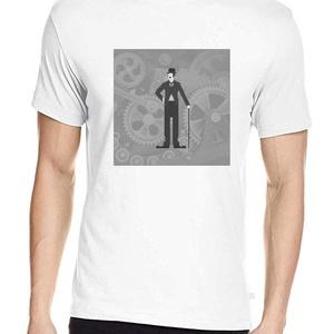 Charlie Chaplin póló, Pixel art póló, Egyedi póló, Póló, Férfi ruha, Ruha & Divat, Fotó, grafika, rajz, illusztráció, A mintán a némafilmes korszak legnagyobb nevettetője: Charlie Chaplin.\nA letisztult, általam terveze..., Meska