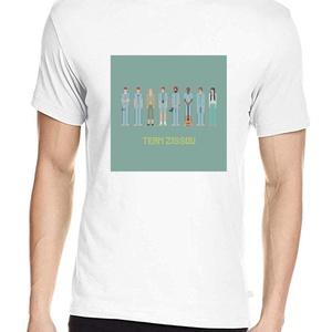 Life Aquatic póló, Pixel art póló, Egyedi póló, Férfiaknak, Urban pólók, Táska, Divat & Szépség, Ruha, divat, Férfi ruha, Női ruha, Póló, felsőrész, Fotó, grafika, rajz, illusztráció, A mintán Wes Anderson 2004-es klasszikusának szereplői.\nA letisztult, általam tervezett pixel art mi..., Meska