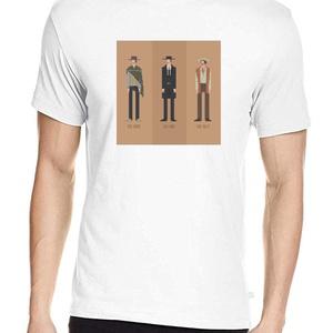 A jó, a rossz és a csúf póló, Pixel art póló, Egyedi póló, Férfiaknak, Urban pólók, Táska, Divat & Szépség, Ruha, divat, Férfi ruha, Női ruha, Póló, felsőrész, Fotó, grafika, rajz, illusztráció, A pólón Sergio Leone filmklasszikusának címszereplői: A jó, a rossz és a csúf.\nA letisztult, általam..., Meska