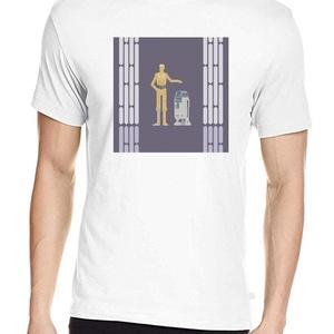 Star Wars póló, Pixel art póló, Egyedi póló, Férfiaknak, Urban pólók, Táska, Divat & Szépség, Ruha, divat, Férfi ruha, Női ruha, Póló, felsőrész, Fotó, grafika, rajz, illusztráció, A mintán a galaxis legjellegzetesebb droid párosa: C-3PO és R2D2.\n100% pamut póló, kizárólag fehér s..., Meska