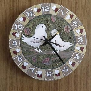 Szerelmes-galambos falióra (Kiokumitsu) - Meska.hu