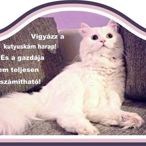 Kutyás-macskás tábla (Kiokumitsu) - Meska.hu