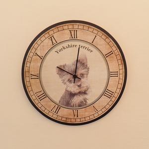 Kutyás óra - Yorkshire terrier (Kiokumitsu) - Meska.hu