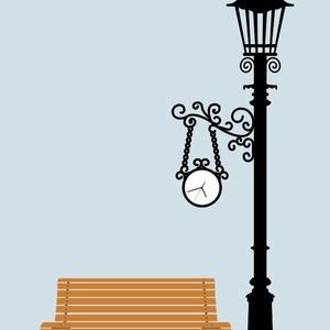 Falmatrica - lámpa és pad (Kiokumitsu) - Meska.hu