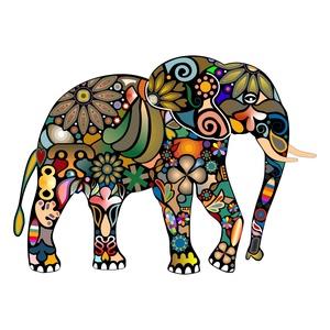 Falmatrica - elefánt, Lakberendezés, Otthon & lakás, Dekoráció, Falmatrica, Fotó, grafika, rajz, illusztráció, A falmatricának alapvetően három mérete van, de kívánságra egyedi méretben is elkészítem, egyeztetés..., Meska