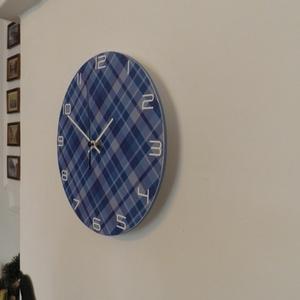 Kék kocka mintás falióra (Kiokumitsu) - Meska.hu