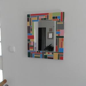 Falitükör - egyedi díszítéssel. (Kiokumitsu) - Meska.hu