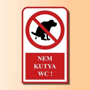 Kutyás figyelmeztető tábla, Otthon & Lakás, Lakberendezés, Fotó, grafika, rajz, illusztráció, Kutyás figyelmeztető tábla, mely elsősorban a kutyatulajdonost figyelmezteti. A tábla kihelyezhető ..., Meska