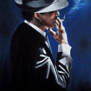 Dohányfüst - akrilfestmény, Képzőművészet, Festmény, Akril, Festészet, Fabian Perez egyik képének másolata. Róla tudni kell, hogy nemzetközileg elismert, argentin származ..., Meska