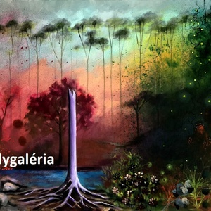 Álom és valóság  - akrilfestmény, Otthon & lakás, Képzőművészet, Festmény, Akril, Dekoráció, Kép, Festészet, 68 x 75 centis akrilfestmény feszített vásznon. Szürreális.\n\nEgy képzeletbeli táj.\nSzemélyes átvétel..., Meska