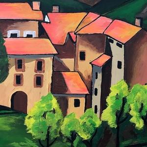 Egy híres régi festmény alapján készült kép, Otthon & lakás, Képzőművészet, Festmény, Dekoráció, Kép, Akril, Festészet, 46 x 59 centis akrilfestmény faroston, keret nélkül. Egy híres régi festmény alapján készült, de sok..., Meska