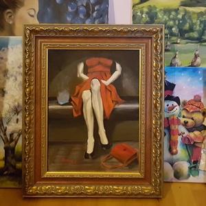 Arcnélküli világ - akrilfestmény, Otthon & lakás, Képzőművészet, Festmény, Akril, Dekoráció, Kép, Festészet, 40 x 30 centis akrilfestmény feszített vásznon, keret nélkül.\n\nA mai okostelefonos világban nagyon k..., Meska