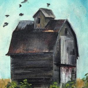 Amerre már csak a madár jár  - olajfestmény, Olajfestmény, Festmény, Művészet, Festészet, 36 x 11 centis olajfestmény vásznon (nem feszített), keret nélkül.\n Paszpartusan kereteztetném. Elha..., Meska