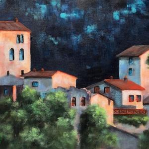 Tuscan night - akrilfestmény, Képzőművészet, Otthon & lakás, Festmény, Akril, Dekoráció, Kép, Festészet, 30 x 43 centis akrilfestmény vásznon, keret nélkül. Egy igazi mediterrán nyári éjszaka . :)\nSzemélye..., Meska