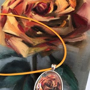 Egy szál rózsa - olajfestmény, Művészet, Festmény, Olajfestmény, 24 x 18 centis olajfestmény kasírozott vásznon, keret nélkül. A (szerintem) a világon a legszebb vir..., Meska