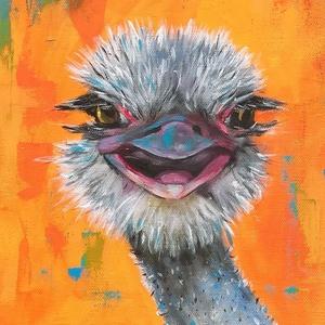A mosoly varázsa - akrilfestmény, Művészet, Festmény, Akril, Festészet, 58 x 24 centis akrilfestmény feszített vásznon, a keret nélkül.\n\nNem véletlenül mondják, hogy a moso..., Meska