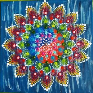 Yin-yang mandala, Otthon & Lakás, Dekoráció, Dísztárgy, Festett tárgyak, A jin-jang elve abból az ősi kínai elképzelésből ered, hogy minden emberi, természeti és világegyete..., Meska