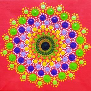 Nőiesség mandala, Otthon & Lakás, Dekoráció, Mandala, Festett tárgyak, Festészet, Anő, aki virágba borul, árassza magából a szeretetet, erős érzelmi reakciókat. A szeretet, az öröm, ..., Meska