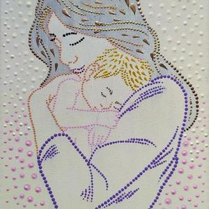 Anyák napjára, Otthon & Lakás, Dekoráció, Mandala, Festett tárgyak, Festészet, Jó szívvel, szeretettel készítettem eme alkotást Anyák napjára, de lehet Gyermeknapra is ajándékozni..., Meska