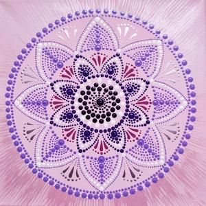 Ragyogás, Otthon & Lakás, Dekoráció, Mandala, Festett tárgyak, Festészet,  Szeretnél bevinni otthonodba egy kis ragyogást? Ezzel a mandalával beviszed életedbe a nyugalmat, a..., Meska