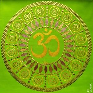 Bőség mandala, Otthon & Lakás, Dekoráció, Mandala, Festett tárgyak, Festészet, Az Om spirituális hatása mágikus erővel érvényesülhet. Magasztosabb síkra emeli a szellemet, segít l..., Meska