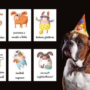 KUTYAKÁRTYA, kutyus mérföldkő kártya, kiskutya kártya, Otthon & Lakás, Kisállatoknak, Kutyáknak, Fotó, grafika, rajz, illusztráció, Egy kiskutya érkezése rendkívül izgalmas dolog a gazdik életében és az első hónapok hamar elröppenne..., Meska