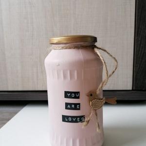 festett üveg dísz, Otthon & lakás, Dekoráció, Dísz, Festett tárgyak, 17 cm magas üveg dísz, Meska