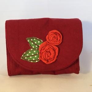 Rózsás kártyatartó és pénztárca egyben (kiseri) - Meska.hu