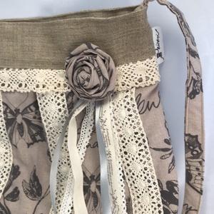 Romantikus rózsás lepkés csipkés lagenlook shabby táska (kiseri) - Meska.hu