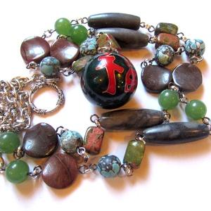 Chi-gong - nyaklánc AKCIÓ!, Hosszú nyaklánc, Nyaklánc, Ékszer, Ékszerkészítés, \nChi gong nyaklánc - AKCIÓ! leírása\n\nA hagyományos kínai orvoslás csodagolyóbisa a chi gong.\n\nA töké..., Meska