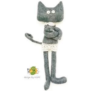 Mafla Macska, Cica, Plüssállat & Játékfigura, Játék & Gyerek, Baba-és bábkészítés, Varrás, Macskám hosszú végtagjai, drótos farkincája, igazán sok lehetőséget nyújtanak a játékhoz, hiszen bár..., Meska