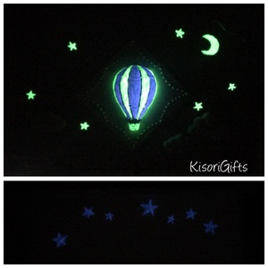 Sötétben világító lilaezüst hőlégballonos dobozka (Névre szóló, szülinapra, babalátogatóba ideális) (KisoriGifts) - Meska.hu