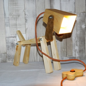Egyedi fa design kutya lámpa  , Otthon & lakás, Lakberendezés, Lámpa, Hangulatlámpa, Famegmunkálás, Egyedi fenyőfából készült design kutyusos lámpa asztalra, földre, nappaliba, gyerekszobába vagy bárh..., Meska