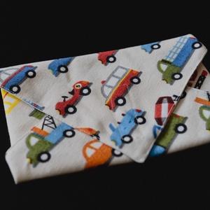 Autós textil csomagoló szalvéta PUL-lal bélelt , NoWaste, Textilek, Textil tároló, Otthon & lakás, Képzőművészet, Textil, Varrás, Vastagabb vászonból és vízálló PUL-ból készítettem ezeket a szalvétákat. Szendvics csomagolására kiv..., Meska
