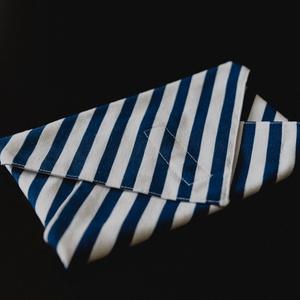 Csíkos textil csomagoló szalvéta PUL-lal bélelt , NoWaste, Textilek, Textil tároló, Otthon & lakás, Képzőművészet, Textil, Varrás, Vastagabb dekorvászonból és vízálló PUL-ból készítettem ezeket a szalvétákat. Szendvics csomagolásár..., Meska