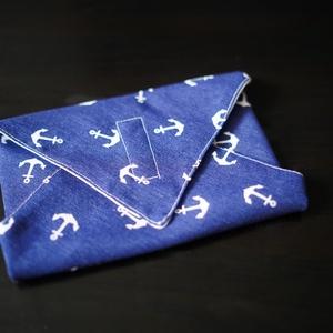 Tengerész textil csomagoló szalvéta PUL-lal bélelt , NoWaste, Textilek, Textil tároló, Otthon & lakás, Képzőművészet, Textil, Varrás, Vastagabb dekorvászonból és vízálló PUL-ból készítettem ezeket a szalvétákat. Szendvics csomagolásár..., Meska