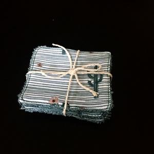 Bambusz frottír arctisztító lapok - kis csomag, NoWaste, Textilek, Pamut arctisztító, Varrás, A környezettudatos életmód már a szépségápolásban is megjelenik, ennek jegyében készültek ezek a mos..., Meska