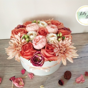 Virágboz, Otthon & Lakás, Dekoráció, Csokor & Virágdísz, Mindenmás, Többféle méretben, színben, kapható. Ízlésesen elrendezett virágból élethű mű virágból.\nA box különf..., Meska