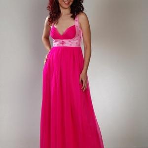Pink maxi ruha, Táska, Divat & Szépség, Női ruha, Ruha, divat, Ruha, Varrás, Selyemfestés, Ajánlom esküvőre, menyecske ruhának vagy ha egyszerűen csak vendég vagy és igazán különleges szeretn..., Meska