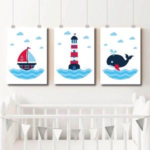 Babaszoba falikép, dekoráció, print, grafika - tenger - 3db A4-es, Gyerek & játék, Gyerekszoba, Baba falikép, Otthon & lakás, Dekoráció, Fotó, grafika, rajz, illusztráció, 3db tengerészes grafika faliképnek a babaszobába, vagy a polcra a gyerekszobába: ). Ideális tengerés..., Meska