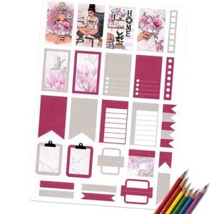 Színes hétköznapok 1, Otthon & Lakás, Papír írószer, Egyedi szerkesztés, Fotó, grafika, rajz, illusztráció, Szuper élénk színes, apró jelölők és kiegészítő matricák a naplódhoz. Felhasználható bujokhoz és hat..., Meska