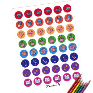 Hétköznapok-ikonok, Otthon & Lakás, Papír írószer, Egyedi szerkesztés, Fotó, grafika, rajz, illusztráció, Ugye mennyivel könnyebb ha kis színes ikonok figyelmeztetnek arra, hogy ne felejtsd el a számodra fo..., Meska