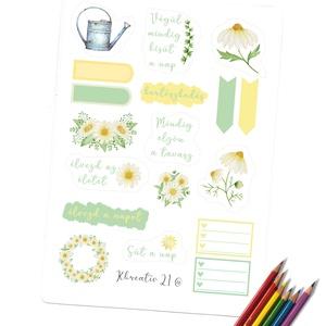 Virágos tavasz, Otthon & Lakás, Papír írószer, Egyedi szerkesztés, Fotó, grafika, rajz, illusztráció, Tavasz,napsütés,virágok.  A sárga és a zöld a tavaszt, az ébredő természetet idézi. Díszítsd a napló..., Meska