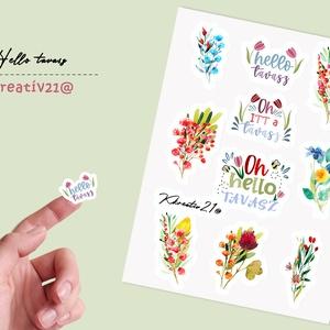 Hello tavasz, Otthon & Lakás, Papír írószer, Egyedi szerkesztés, Fotó, grafika, rajz, illusztráció, Végre itt a tavasz, nyílnak a virágok, csiripelnek a madarak. Dobd fel a naplódat vagy a terveződet ..., Meska