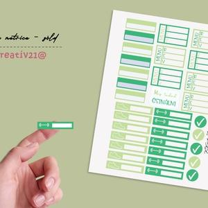 Fitnesz matrica-zöld, Otthon & Lakás, Papír írószer, Egyedi szerkesztés, Fotó, grafika, rajz, illusztráció, Színes, apró jelölők és kiegészítő matricák a naplódhoz. felírhatod mit ettél, mennyit futottál vagy..., Meska